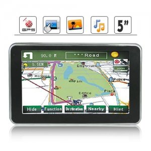 600MHz Frequency MST Processor 5 Inch HD Touchscreen GPS Navigation